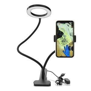 Make-up Illuminator Apparatuur Verbeterd Tattoo Lamp Met Klem USB LED Lamp Koud Licht Wenkbrauw Wimper Extension Beauty Salon