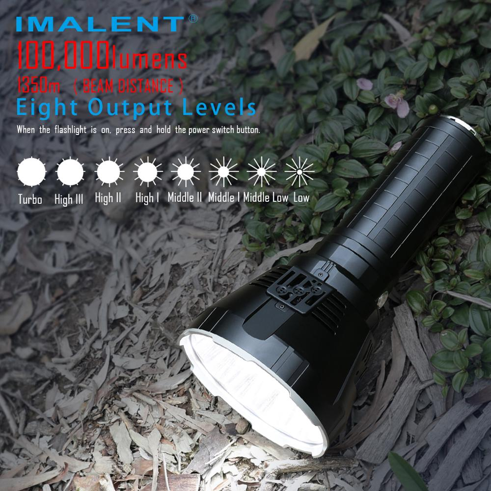 IMALENT MS18 Brightest Flashlight 100000 Lumens Leds Rechargeable Cree XHP70.2 Searchlight Outdoor Torch enlarge