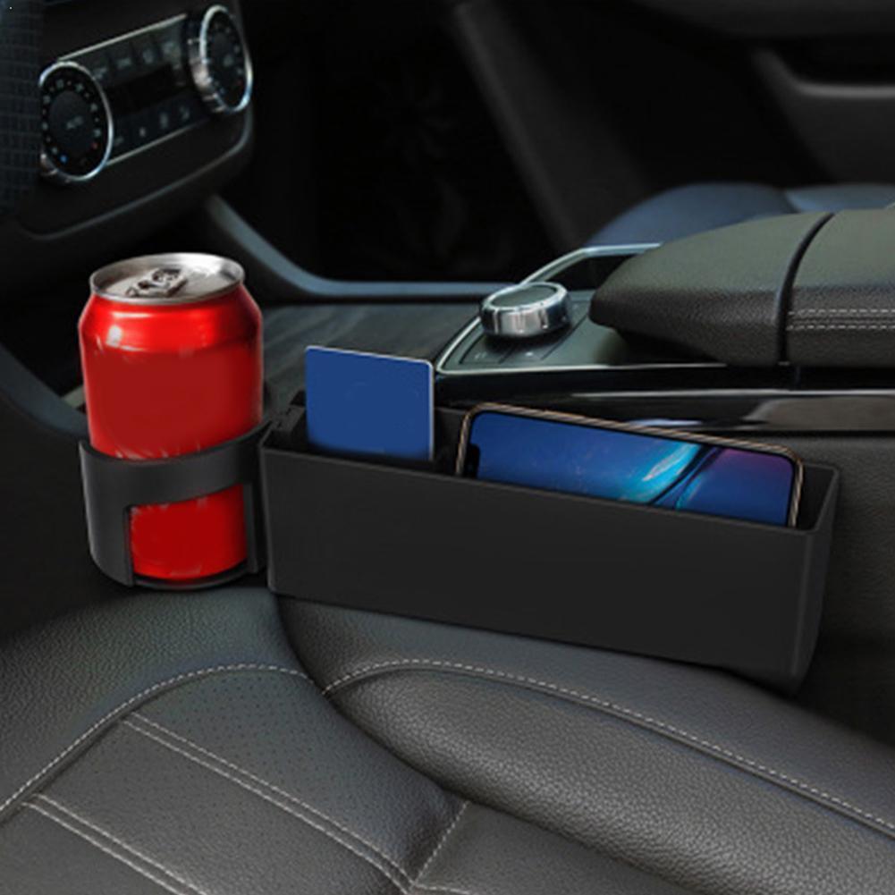 Caja de almacenamiento para hueco de asiento de coche Universal Multi-función Auto...