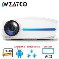 WZATCO C2     projecteur video intelligent 3D  videoprojecteur Full HD LED 6800 Lumens  1080P  4K  Android 10 0  Wifi  pour Home cinema