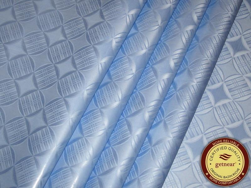 ¡Novedad de 2019! Brocado de Guinea, Riche Bazin de alta calidad (Similar a Getzner), prenda azul celeste de Senegal, tejido tradicional de África