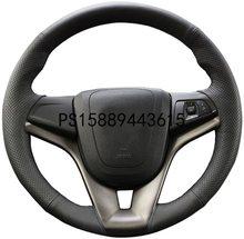 Diy Auto Stuurhoes Voor 2011 - 2015 Chevrolet Chevy Cruze Interieur Accessoires 15 Inch Stitch Op Wrap Naaien
