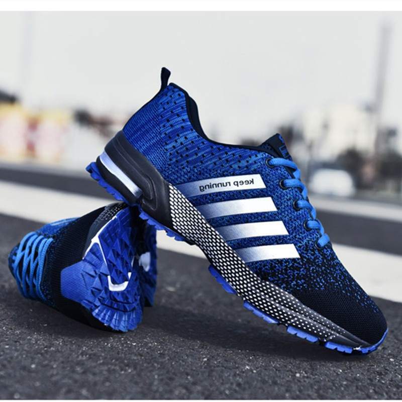 Fashion Men's Shoes Portable Breathable Running Shoes 46 Large Size Sneakers Comfortable Walking Jogging Casual Shoes 48