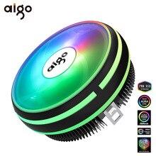 Aigo CPU Cooler Radiator 120mm PWM 12V SYNC RGB LED Fan CPU Air Cooling Computer Cooler LGA/1151/1155/AM3/AM4 4Pin CPU Cooler