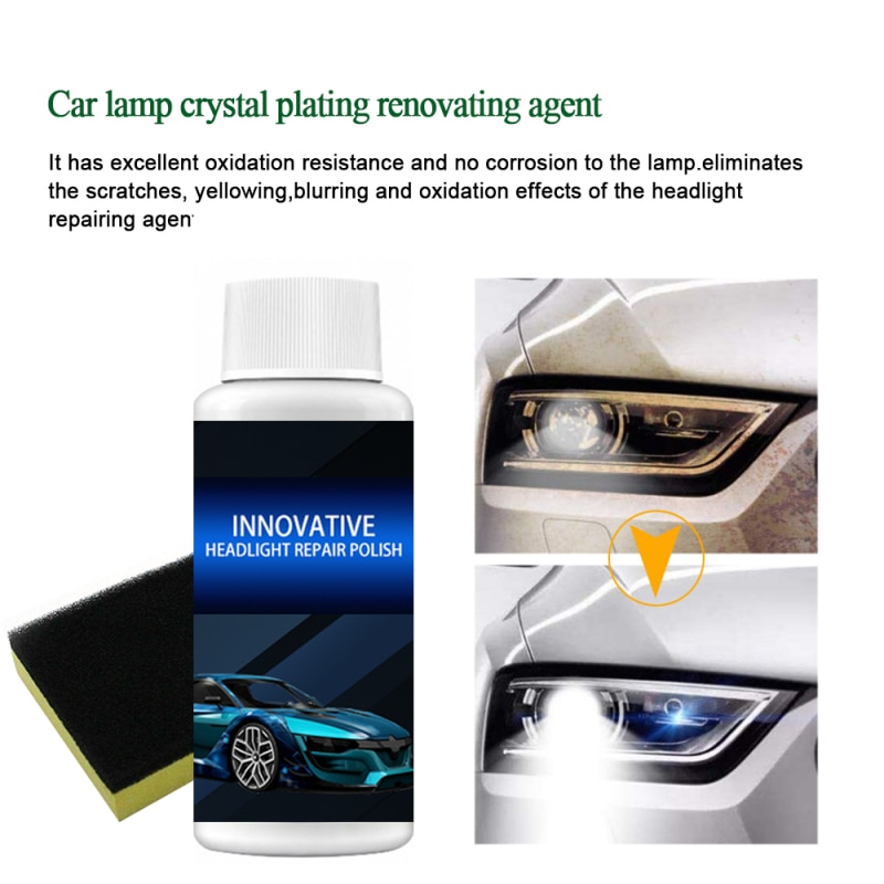 New Car Headlight Polish Repair Kit Car Repair Fluid Car Headlight Repair Refurbishment Liquid Headlight Anti-scratch Liquid