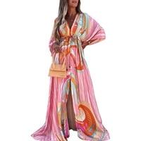 autumn fashion long sleeve maxi dress for women boho wedding lady long dresses bohemian sexy dress in the floor robe