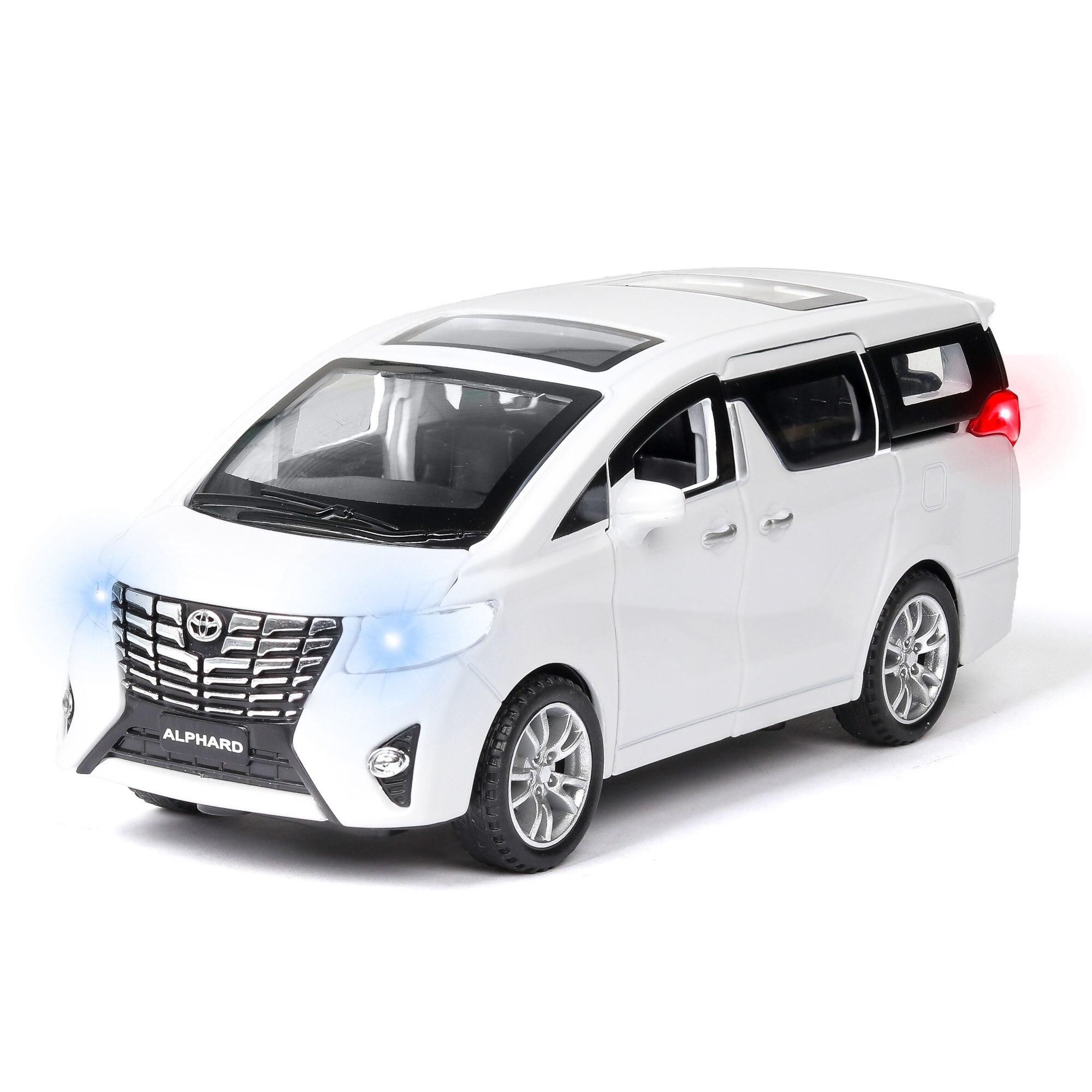 High Simitation 1:32 New Toyota Alphard MPV Model Alloy Pull Back Car Model 6 Open The Door Sound Light Kids Toys Free Shipping