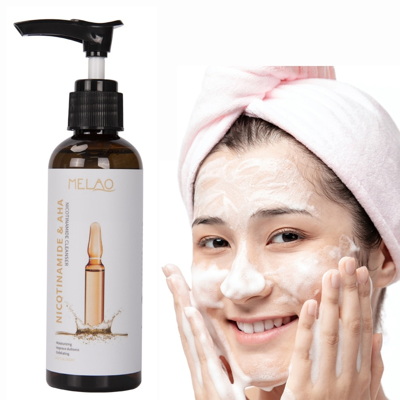 100ml Niacinamide Facial Cleanser Moisturizing Amino Acid Facial Cleanser skin deep cleaning face cleanser face products amino acid facial cleanser 60ml whitening face cleanser deep fresh hydrating moisturizing foam brightening face wash