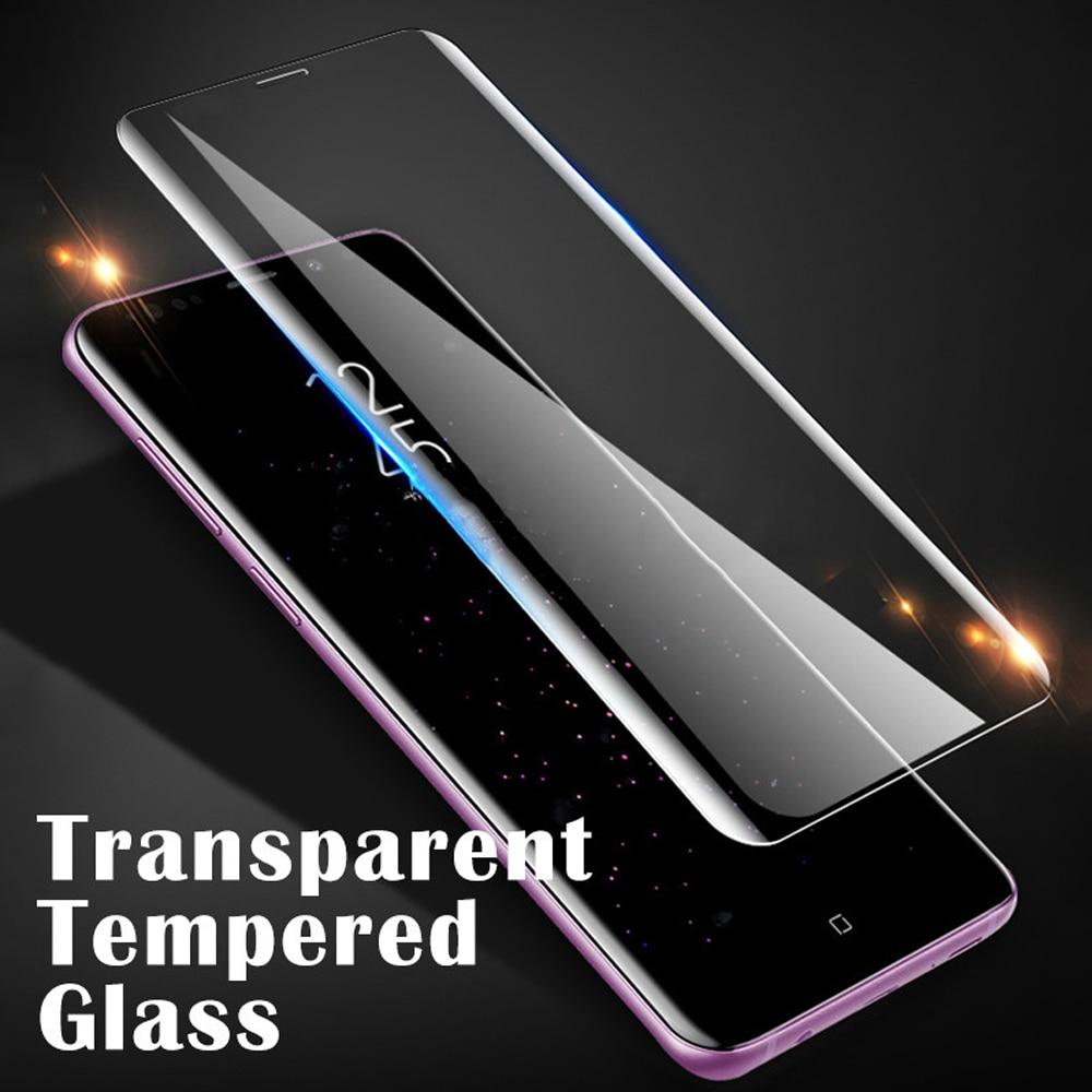 Cubierta completa para samsung Galaxy S8 S9 S10 S10e plus vidrio templado S7 edge película protectora en el vidrio protector de pantalla del teléfono