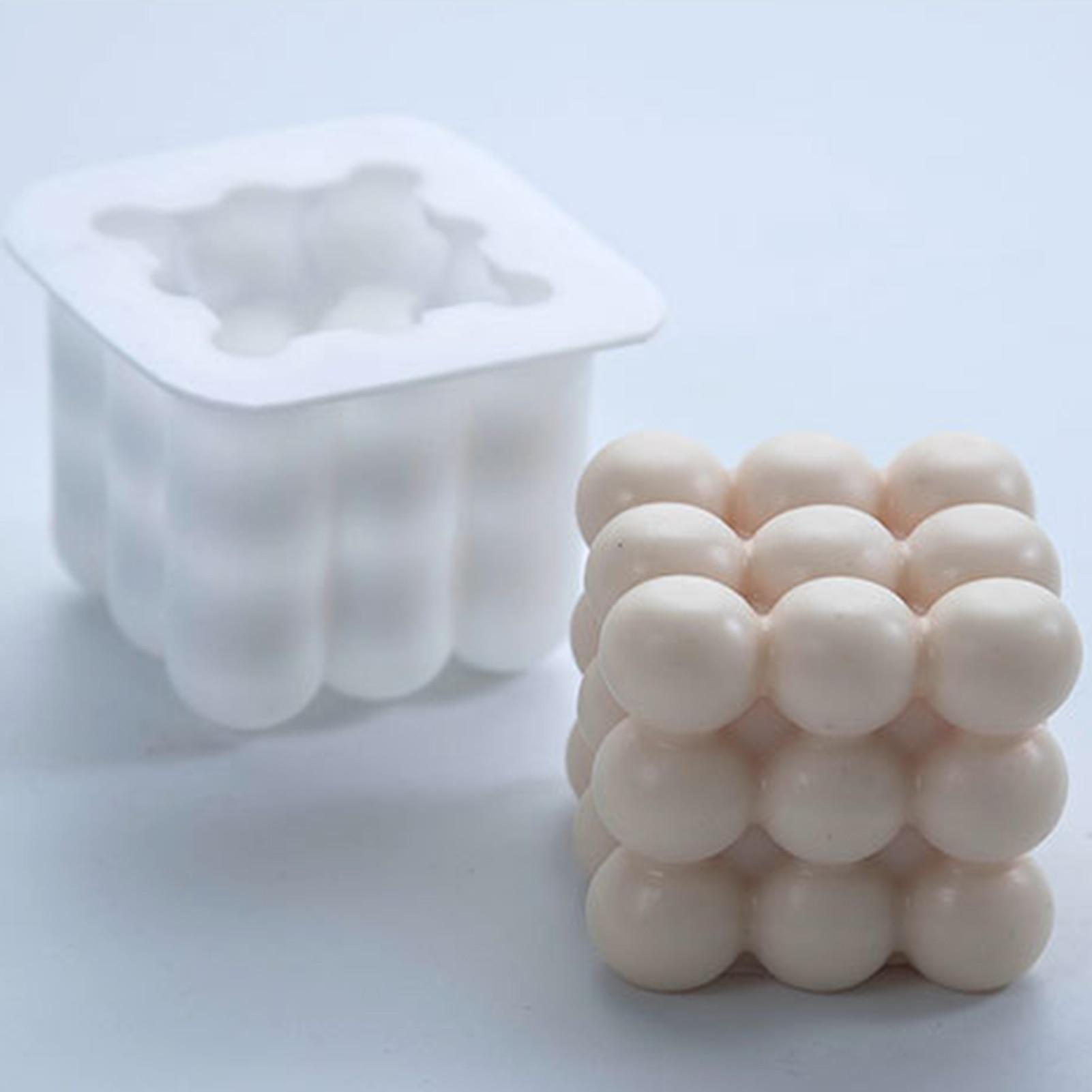 1 pçs 3d estereoscópico silicone moldes de vela diy artesanal scented vela molde resina cola epoxy gesso vela que faz moldes de bolo molde