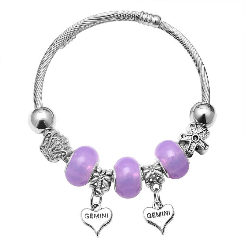 Pulseras y brazaletes de cristal de lujo con forma de corazón y Flor de tortuga pulseras de plata para mujer joyería Pulseira Feminina pulsera