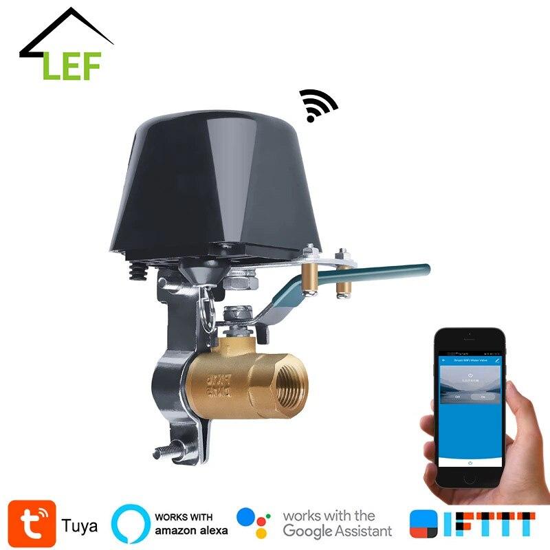 مناور تحكم لاسلكي Tuya ، 1/2 بوصة ، DN15 ، صمام مياه يعمل بالغاز ، واي فاي ، وحدة تحكم ذكية مع إيقاف التشغيل ، متوافق مع مساعد Google Alexa