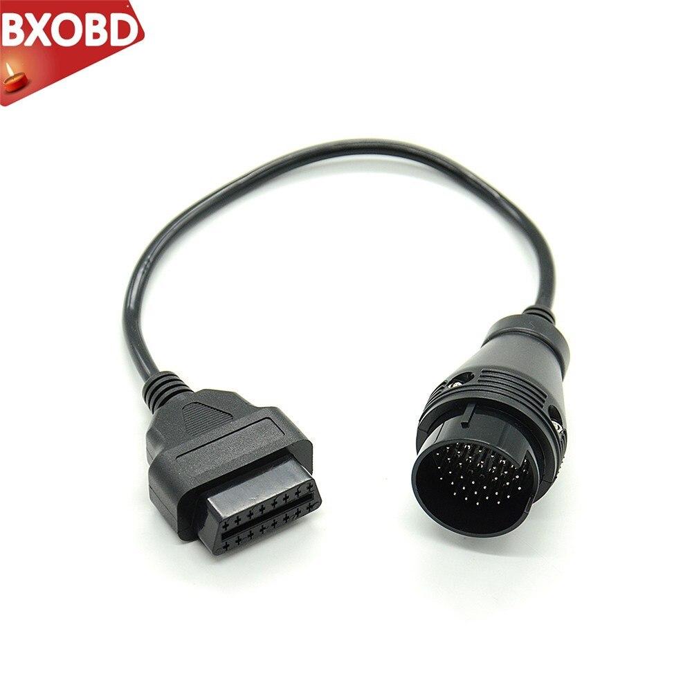 Adaptador de diagnóstico OBD II para MB 38 Pin a 16 Pin OBD2 38 Pin OBD 38pin conector adaptador