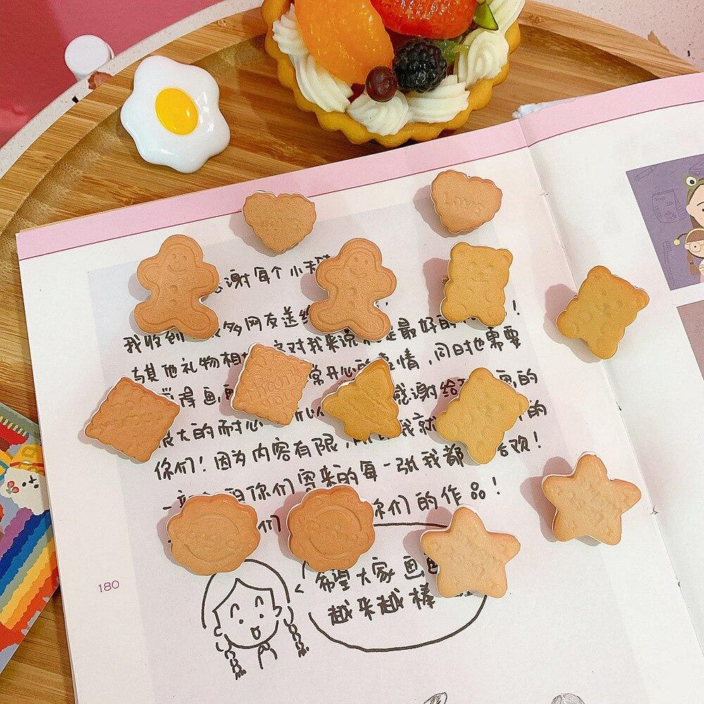Simulación de estrella para árbol de oso de jengibre hombre galletas Mini broches para mujeres chica único Vintage broche de comida Pins de moda