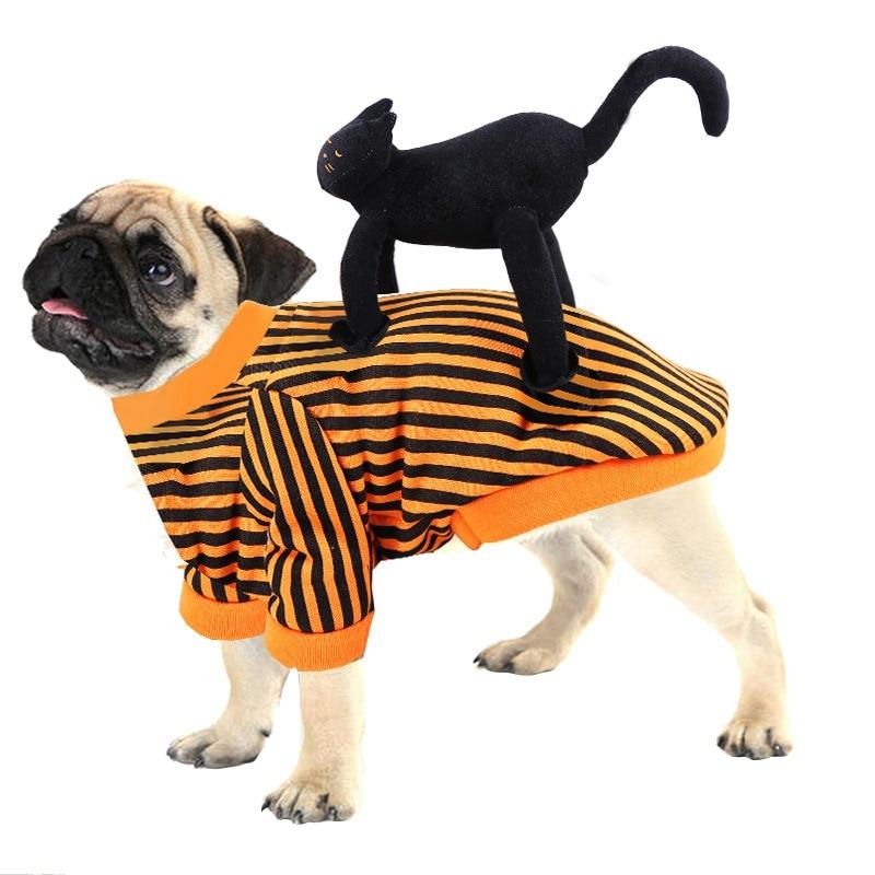 Disfraces de mascotas, perros y gatos, ropa de Halloween para mascotas, Chaqueta de vestir, abrigos para perro, gato, Jinete, ropa de estilo de invierno, ropa de abrigo para perros