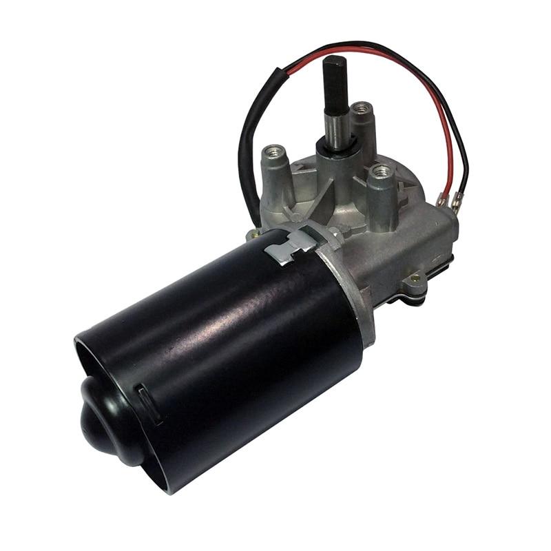 مخفض تروس دودي 30 واط 12 فولت 24 فولت تيار مستمر ، محرك تروس مع وظيفة قفل ذاتي ، باب مرآب ، محرك باب دوار ، عجلة معدنية نحاسية