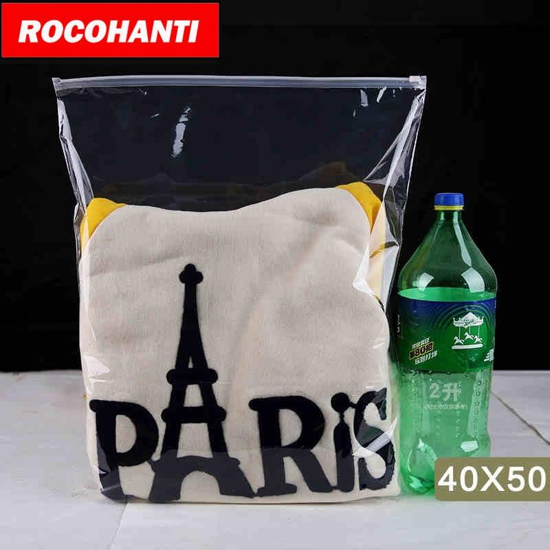 100X High quality Cheap Clear Zipper Bag Self Adhesive Plastic Bags For Tshirt Clothing Retail Packaging