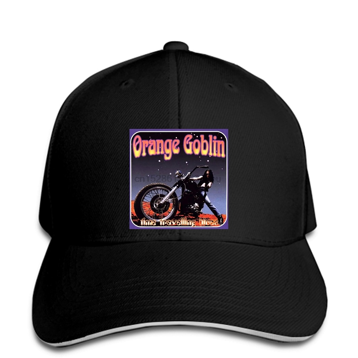 Nueva gorra de béisbol negra para hombre con banda de Rock Heavy Metal Goblin naranja, gorra de béisbol para hombre, gorra snapback con visera
