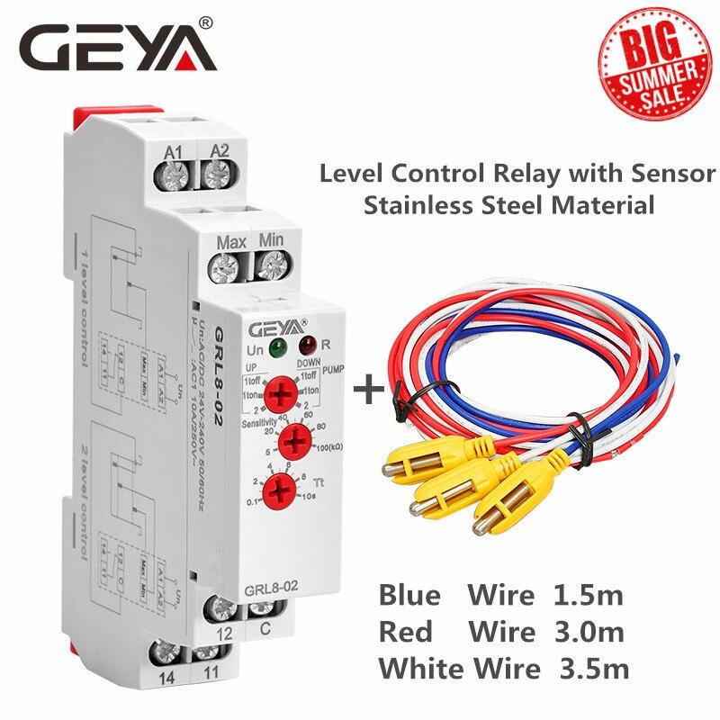 AliExpress - Free Shipping GEYA GRL8 Liquid Level Control Relay Electronic Liquid Level Controller 10A  AC/DC24V-240V