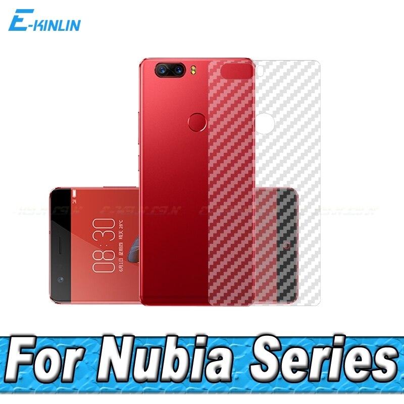 10 piezas de Protector de pantalla de fibra de carbono para ZTE Nubia X Z17S Z17 Z18 mini S miniS V18 película protectora trasera sin vidrio templado