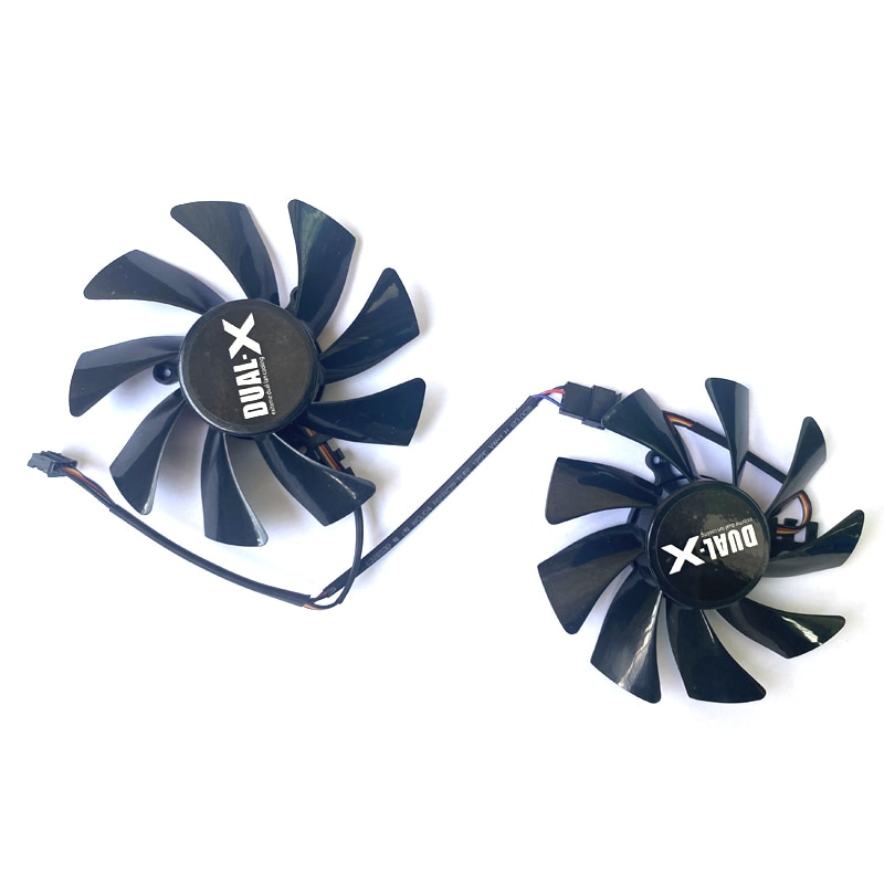 2PCS FD9015U12S 85MM 4PIN HD7970/7950 GPU VGA Cooler Graphics Card Cooling Fan For XFX HD7950 HD7970 Cards Video Card Fans