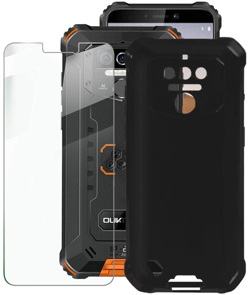 Für OUKITEL WP5 Pro Fall OUKITEL WP5 Luxus Weiche TPU Telefon Fall Mit Gehärtetem glas Für OUKITEL WP5 Pro MT6761 5,5 zoll