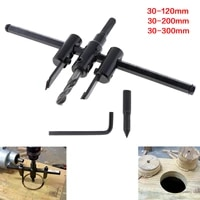30 120200300mm alloy steel circle hole saw drill bit adjustable aircraft type cordless wood cutter tool kit for woodworking