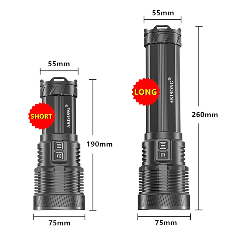 CREE XHP70 High Power Camping Lighting Self-defense Tactical Torch Powerful 18650 USB Charging Ultra Bright LED Flashlight enlarge