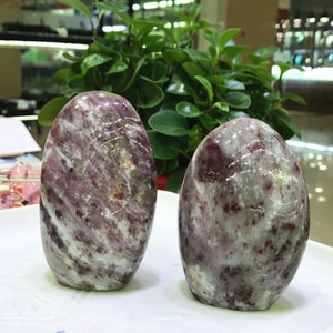 Natural Plum Blossom Tourmaline Polishing Crystal Stones Ornament Furnishings For Home Decoration Accessories Vintage Jewelry