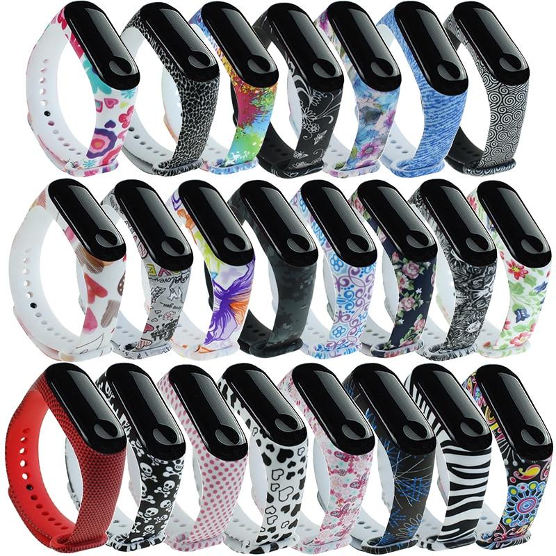 Sport Strap For Xiaomi Mi Band 3 4 5 Silicone Wrist Strap For Mi band 4 Graffiti style Bracelet For Xiaomi Mi Band 6 Accessory