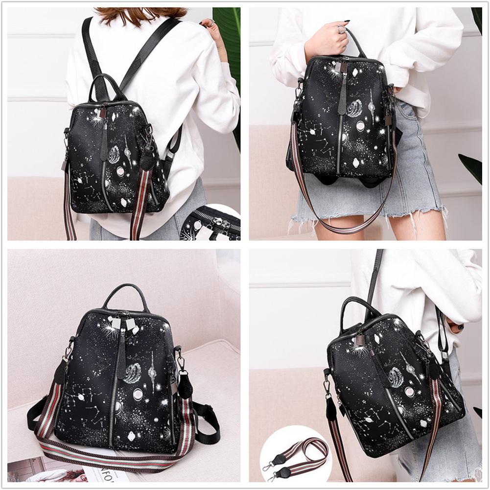 Lady Stylish Pattern Decoration All-match Fashion Oxford Fabric Backpack Protable Bag