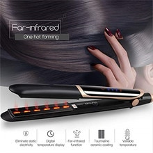 Fer à lisser bigoudi fer plat Ion négatif infrarouge cheveux lisseur brosse ondulation 2 In1 cheveux fer à friser