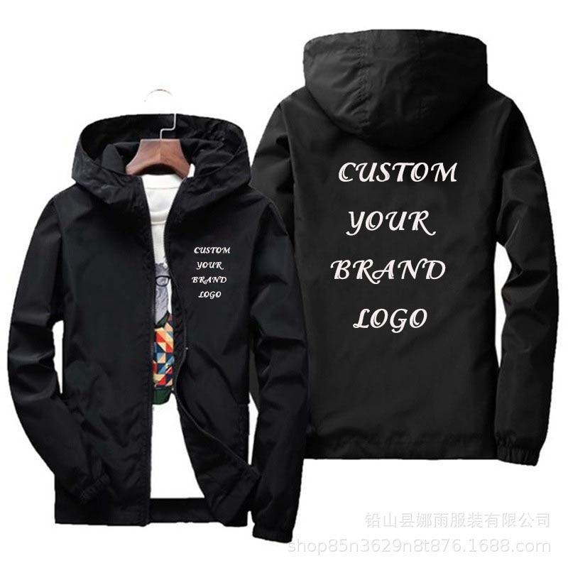 Куртка мужская водонепроницаемая с логотипом бренда, Повседневная теплая ветровка, уличная одежда, большой размер 6Xl, зеленая, черная, красн...