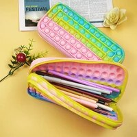 pencil case fidget toys reliver stress toy rainbow push bubble handbag simple dimmer antistress toy children sensory game toy