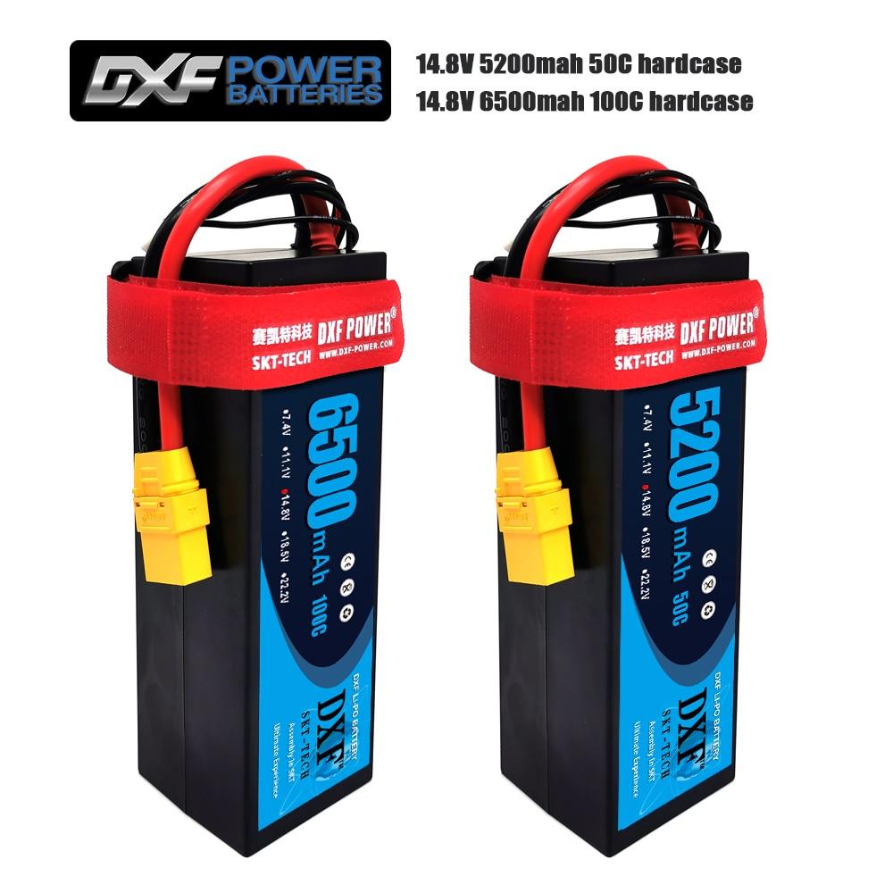DXF 4S Lipo Battery Hard Case 14.8V 6500mAh 60C 100C/5200mah 50C/7300mah 130C/AKKU for 1:8 1:10 RC Car E Buggy Truggy Truck Boat enlarge