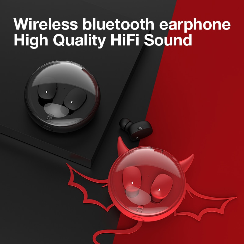 Dido i12 Wireless Earphone Bluetooth 5.0 Mini In Ear Earbuds Binaural Headset Microphone For IOS Android Smart Phones Xiaomi enlarge