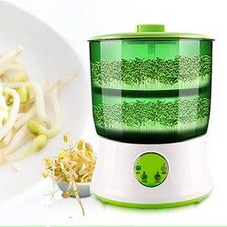 Ferramenta vegetal duas camadas brotos de feijão fabricante inteligente casa automática grande capacidade termostato sementes verdes crescendo