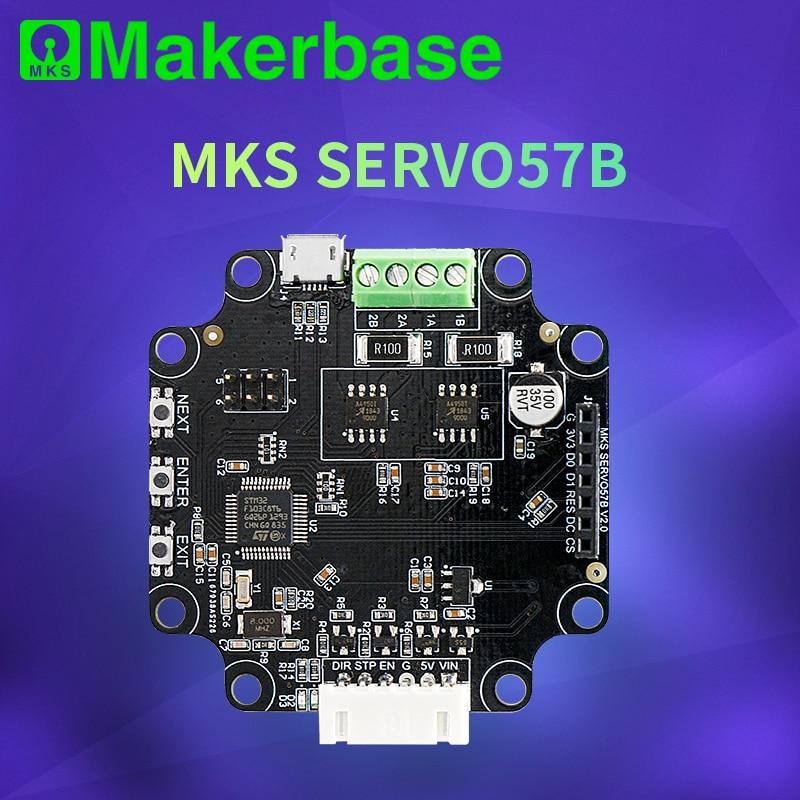Makerbase MKS SERVO57B NEMA23 STM32 controlador de motor paso a paso de circuito cerrado CNC piezas de impresora 3d evita perder pasos para Gen_L SGen_L
