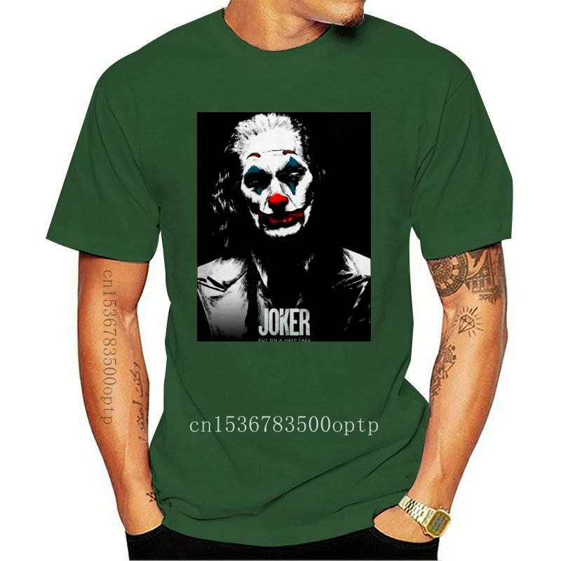 New 2021 Movie 2021 Joker Joaquin Phoenix Pop Art T Shirt Rock Roll Healthy Cotton Round Collar T-shirt