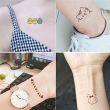 50pcs/set Waterproof Fake Tattoo Colorful Cute Panda Bear Flower Kids Tattoo for Body Hand Wrist Temporary Tattoo Sticker Girls