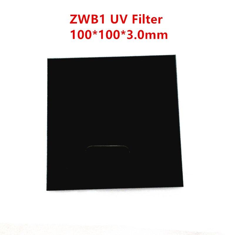 Filtro de paso UV ZWB1 UG11 corte de luz Visible 302nm 312nm 340nm cristal negro de transmisión ultravioleta