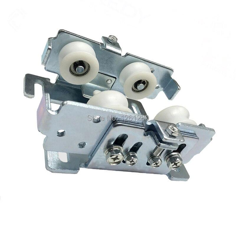 Operador automático de puerta corredera polea colgante enrollable sensores de puerta de vidrio puerta poliéster mute rueda ferretería parte