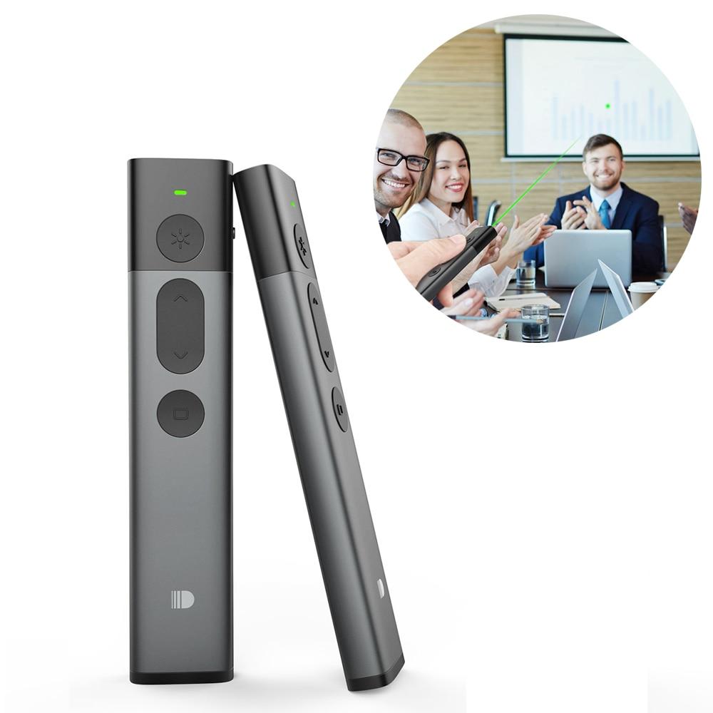 2.4GHz PPT sans fil présentateur RF sans fil télécommande Doosl vert pointeur Laser Powerpoint stylo Clicker contrôleur