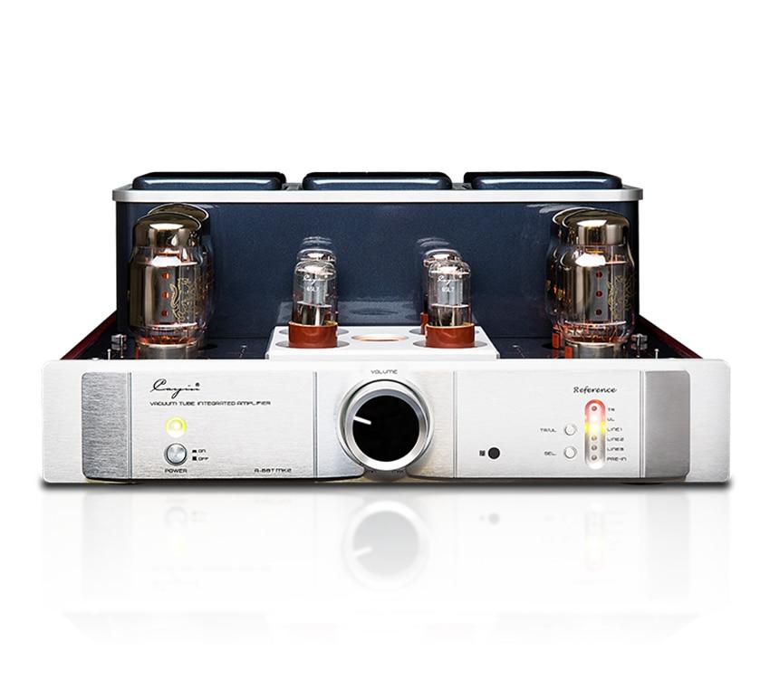 Q-007 cayin A-88TMK2 amplificador de tubo de vácuo el34 kt88 6550eh x4 classe ab push-pull amplificador tr ul ul switch 35 w * 2