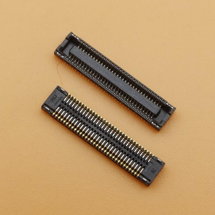 2 unids/lote conector FPC cargador para LG Nexus 5 D820 en la placa base 64pin conector flex de carga