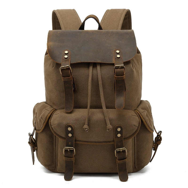 New Fashion Outdoor Travel Bag Portable Canvas Messenger Bag Trendy Large Capacity Casual Backpack