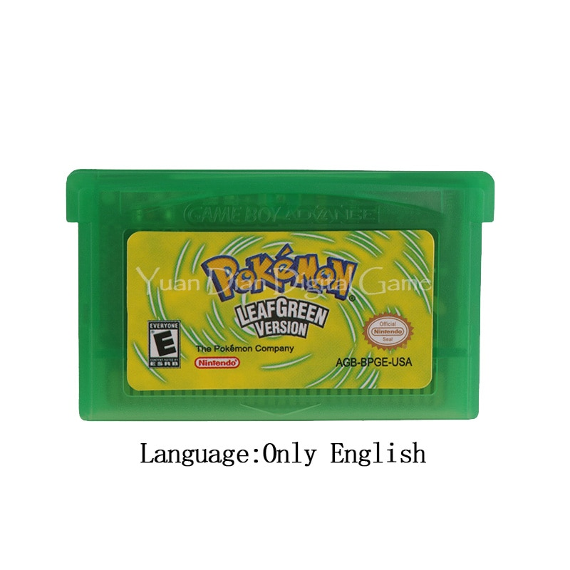 For Nintendo GBA Video Game Cartridge Console Card Poke Series LeafGreen English/Italian/German/French/Spanish Language
