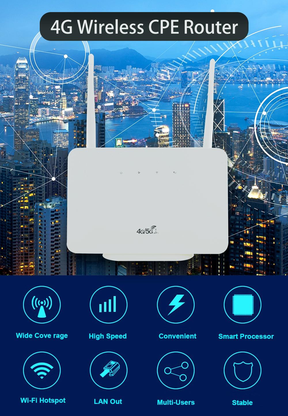 modem desbloqueado 3g 4g cat4 lte wifi roteador cpe home antena dupla porta de lan