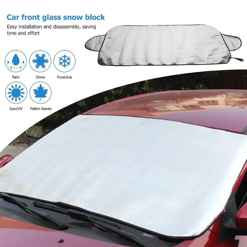 VODOOL Car Windshield Sunshade Cover Winter Auto Windscreen Window Snow Ice Frost Shield Block Sun Shade Covers Curtain 150x70cm