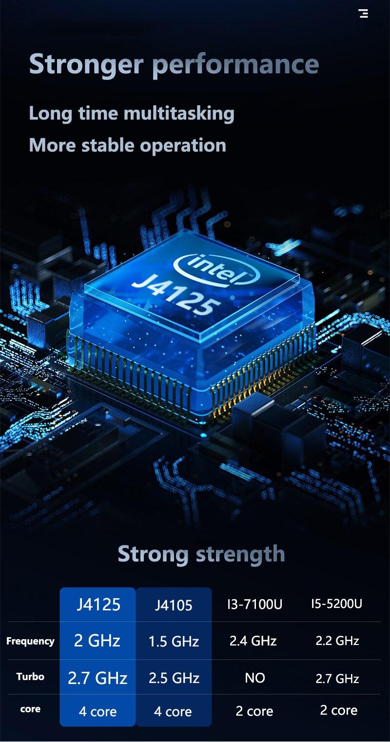 Cheap Notebook 15.6 inch FHD  Intel Celeron J4125 8GB DDR4 256GB SSD Windows 10 Ultrabook PC Portable Gamer School notebooks